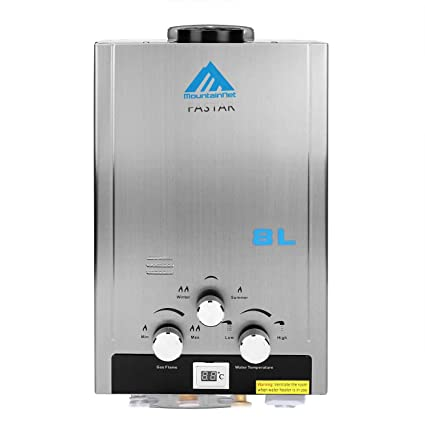 iglobalbuy 8L Gas Natural Calentador instantáneo caliente calentador de agua calentador de agua con alcachofa de