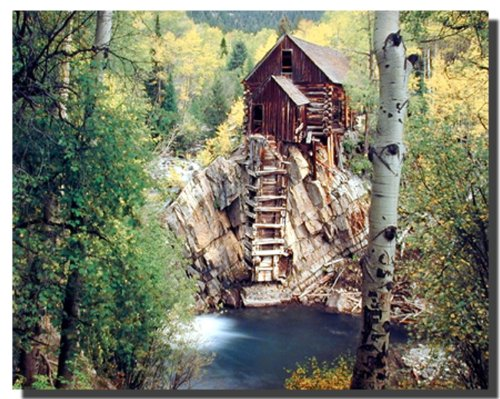 Dead Horse Mill Colorado with Aspen Tree Scenery Landscape Wall Decor Poster - 16 Colorado Mills