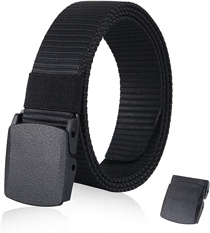"NEW 1.5/"" WIDE NAVY BLUE ADJUSTABLE 82/"" CANVAS MILITARY WEB BELT BLACK BUCKLE"