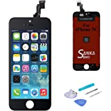LCD Touch Screen Digitizer Frame Assembly Full Set Screen Replacement for iPhone 5C