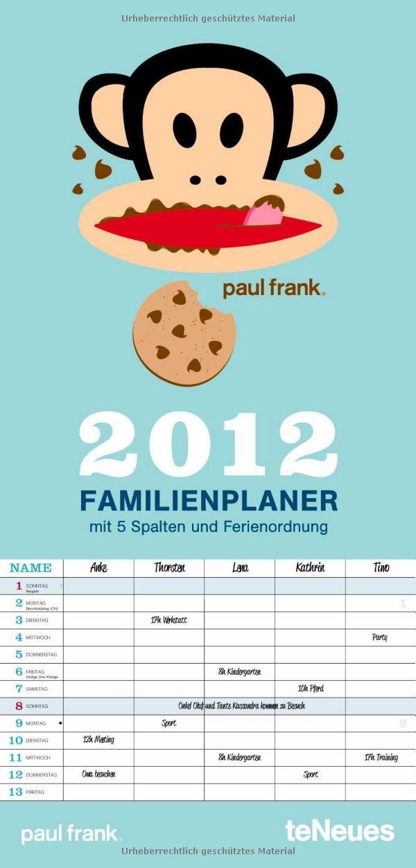 Paul Frank Familientermine 2012