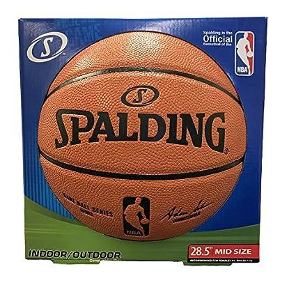 9e1b11c4a33d Amazon.com   Spalding NBA Replica Composite Indoor Outdoor Basketball -  Intermediate Size 6 (28.5