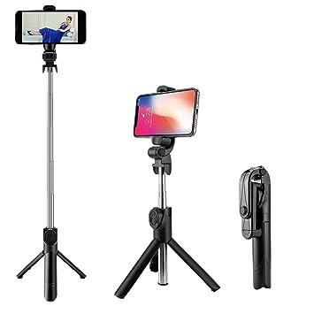 Palo de Selfie Bluetooth con Trípode, AomTro Mini Selfie Stick Universal con Mando a Distancia para iPhone 5/6/7 8 Plus Series, Huawei, Samsung ...