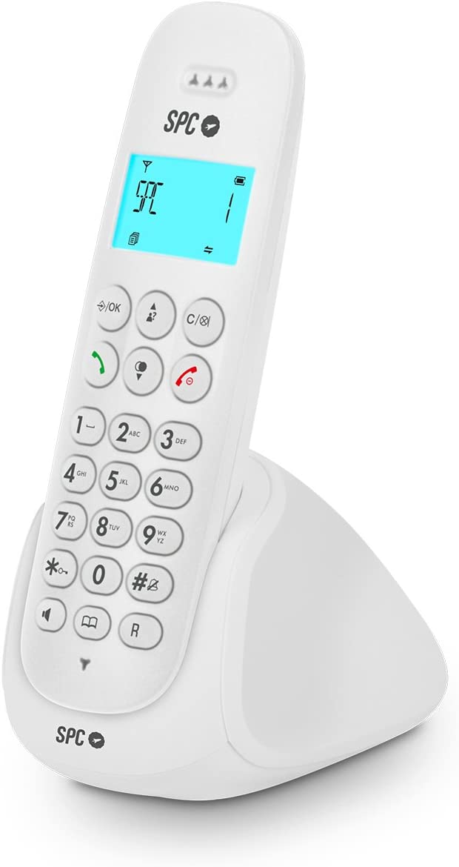 SPC Art - Teléfono inalámbrico con agenda, manos libres e identificador de llamadas – Color Blanco: Spc-Telecom: Amazon.es: Electrónica