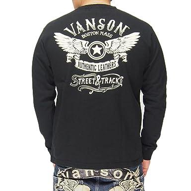 USA製 アメリカ製 ブラック色 バンソン 天竺長袖Tシャツ VANSON ロンT 送料無料 NVLT-723 フライングスター