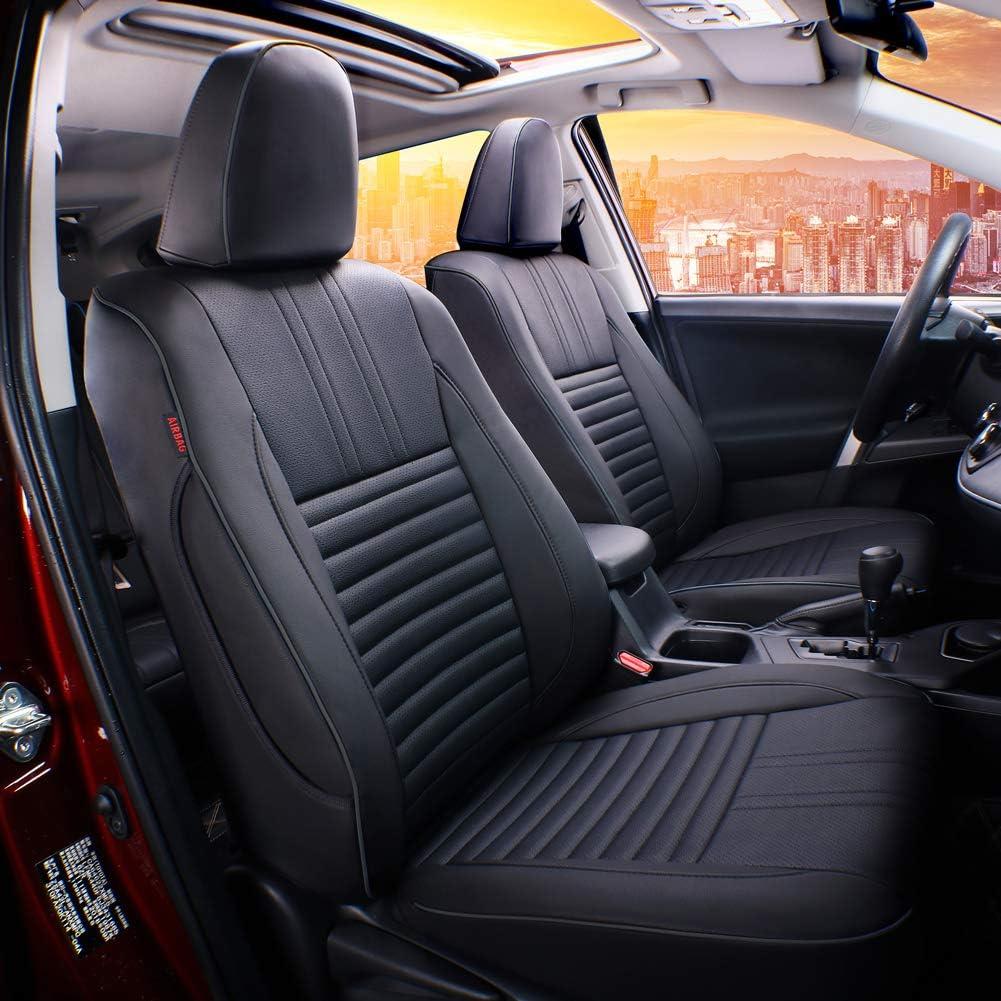 - Leatherette Black EKR Custom Fit Full Set Car Seat Covers for Select Toyota RAV4 LE 2013 2014 2015 2016 2017 2018 NOT for EV OR Hybrid