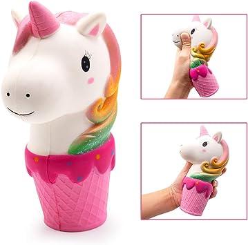 MMTX Unicornio uguetes Squishy Squishies, Grandes Squishies Kawaii Juguetes Antiestrés para Niños y Adultos: Amazon.es: Juguetes y juegos