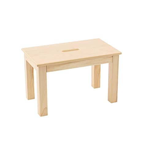 Max U0026 Lily Natural Wood Kid And Toddler Bench With Hand Hole, Natural