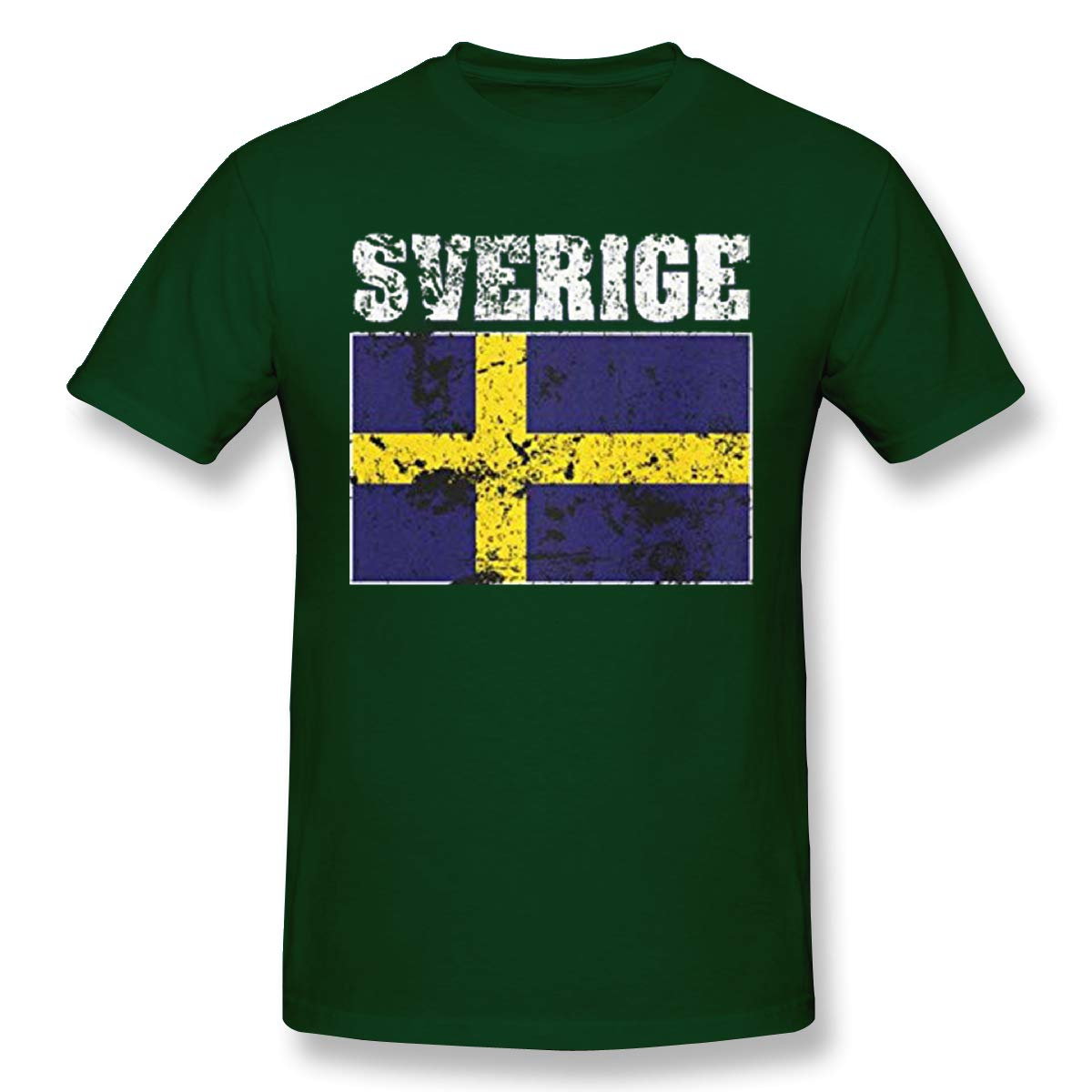 Perfectmeet S Faded Distressed Sverige Flag Sweden Short Sleeve Tshirt