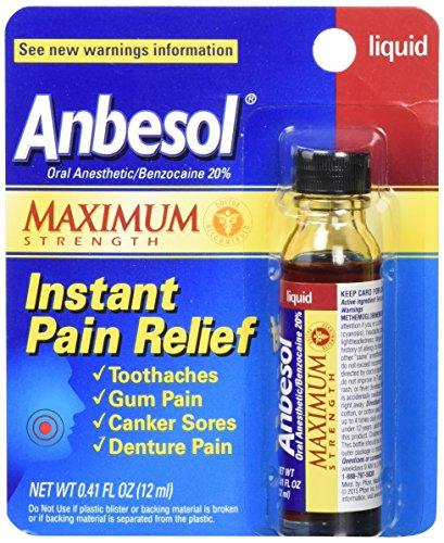 Anbesol Liquid Maximum Strength, 0.41 oz