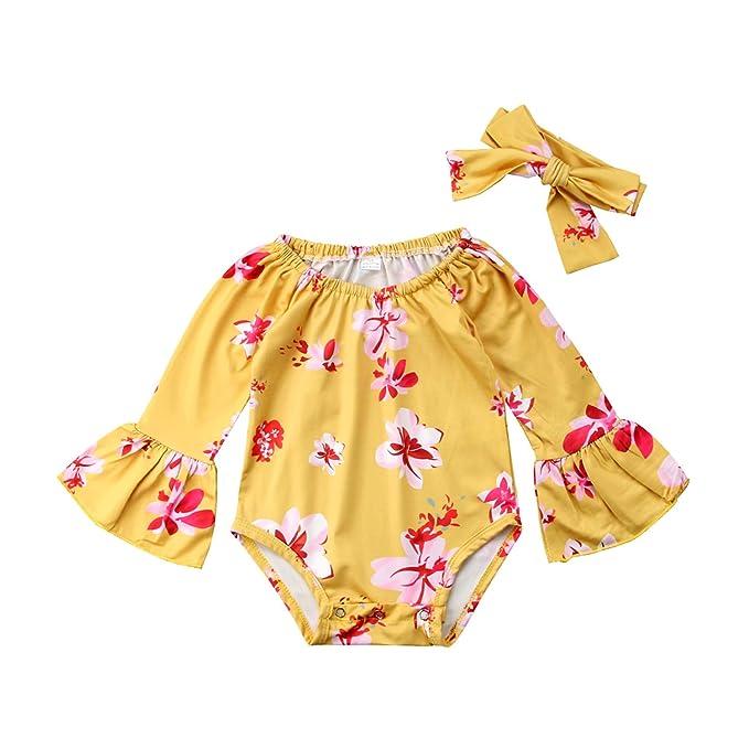 Amazon.com: Bonito traje de manga larga para recién nacido ...