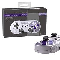 Controller für PS4 PC, 8Bitdo SN30 PRO Bluetooth Kabellos Gamepad für Nintendo Switch Konsole, PC, Windows, Android, Raspberry Pi, MacOS, Steam