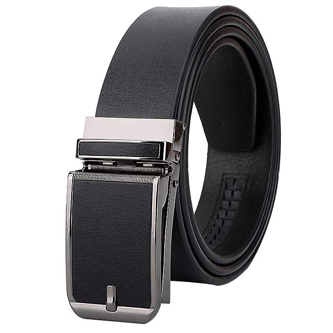 Cinturón Cuero Real Hombres Negro Marrón, Largo110-125 Cm ...