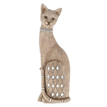 Shudehill Kerala 280703 - Figura decorativa de gato con diamantes de imitación, diseño de gato: Amazon.es: Hogar