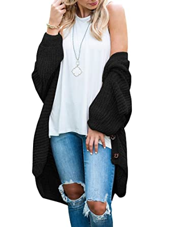 676b5cef Chellysun Womens Long Sleeve Chunky Knitted Oversized Chenille Sweater  Cardigans Winter Jackets
