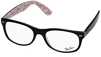 f86d8dee0c Amazon.com: Ray Ban Rx5184 Black and White Frame: Shoes