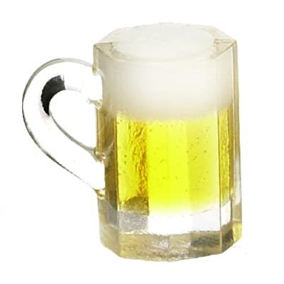 Maison De Poupées Miniature 1:12 échelle Pub Bar Accessoire Verre Pinte de Lager Ale Bière