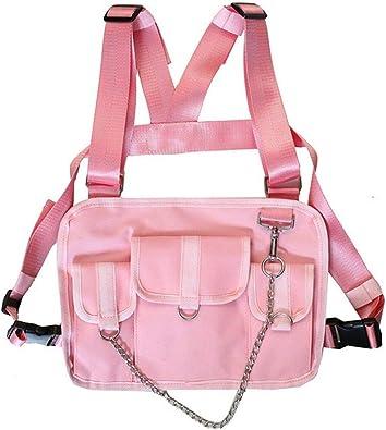 Bolsa de pecho para hombre, arnés de cadera y arneses, color Rosa ...