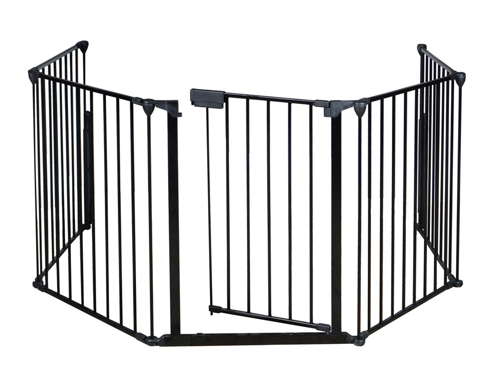 Amazon.com : TMS Baby Safety Fence Hearth Gate BBQ Metal Fire Gate  Fireplace Pet Dog Cat Fence : Baby