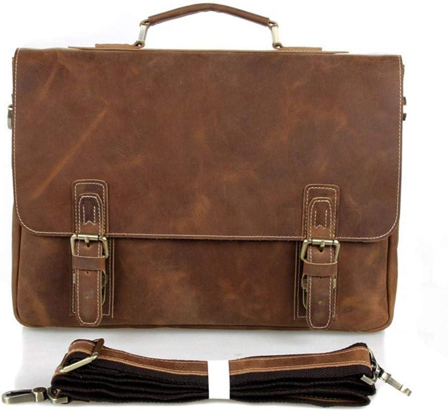 Mens Briefcase Mens Laptop Briefcase Shoulder Bag Leather Messenger Satchel Retro Vintage Bag for 15 Notebook//Computer Business Briefcase