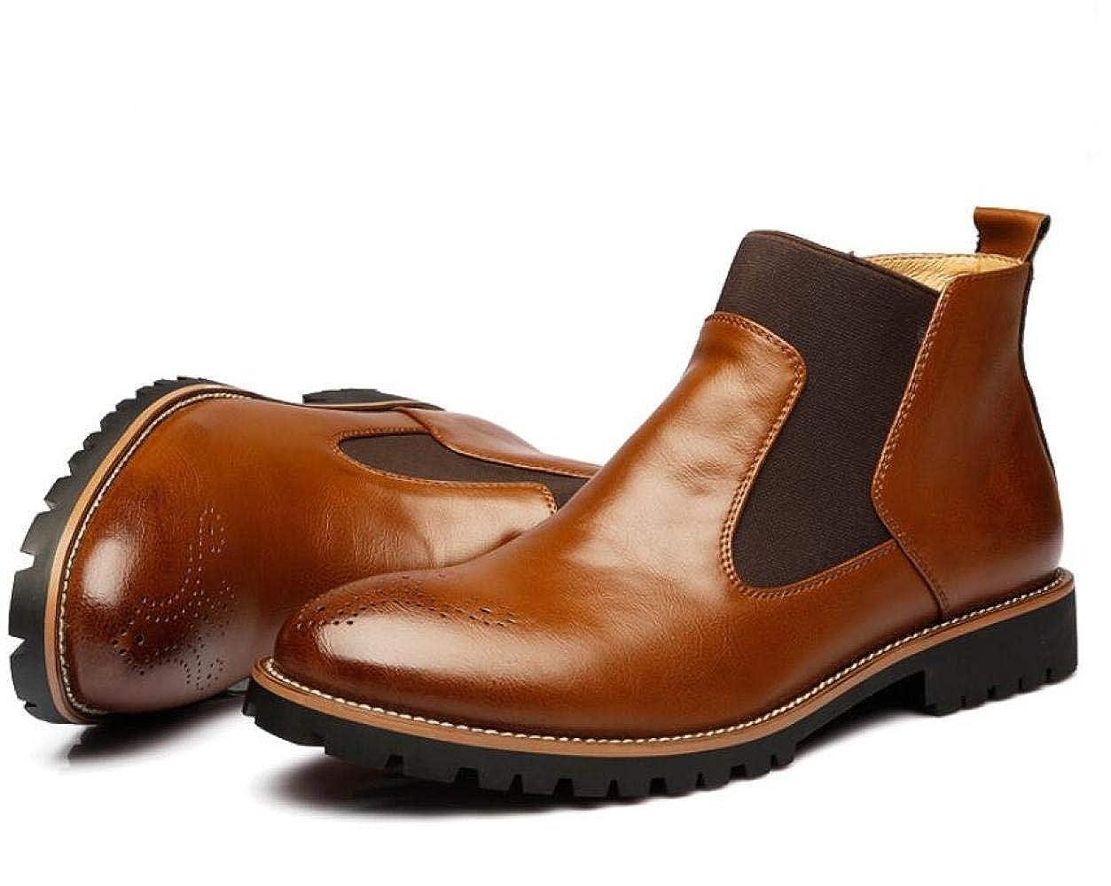 Stiefel Der Winterart- Und Weisemänner Lederne Stiefel Martin Lädt Männer Die Schuhe Der Beiläufigen Männer Lädt Auf Braun 7c4d09