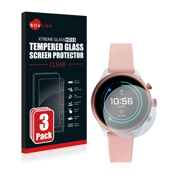 savvies Cristal Templado Compatible con Fossil Sport (41 mm ...