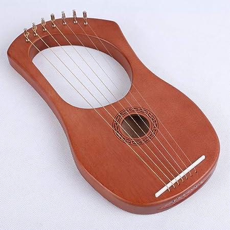 SMAA del Arpa, Trompeta Lira, 7 Metal Cadena de Hueso de una Silla de Caoba lejía Arpa con afinación Llave y Negro Bolsa de Concierto, Instrumentos de nicho griegas: Amazon.es: Hogar