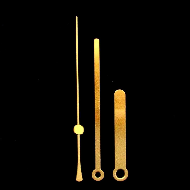De remplacement en m/étal dor/é horloge mains pour horloge /à quartz mouvements/ /Press Fit Tailles 24/mm/ 24mm Gold dor/é M/étal /130/mm