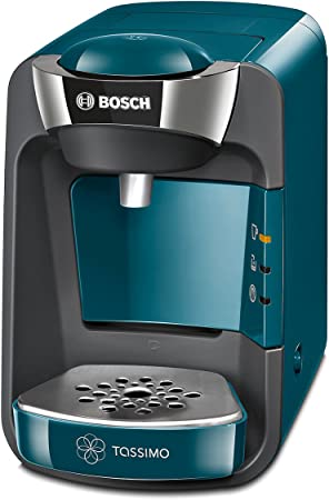 Bosch TAS3205 TASSIMO Suny Cafetera de cápsulas con sistema SmartStart, color azul pacífico: Amazon.es: Hogar