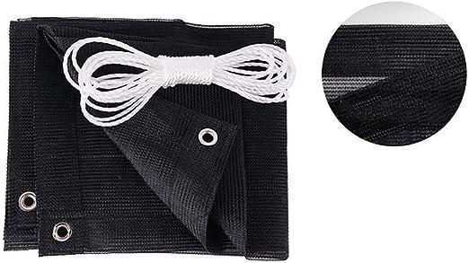 WZF Tejido de Malla para toldos para Cubrir una pérgola en un Invernadero Granero o Perrera Negro - 90% de tasa de sombreado (Dimensiones: 3x3M): Amazon.es: Jardín