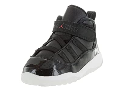 jordan retro 11 kids black and red