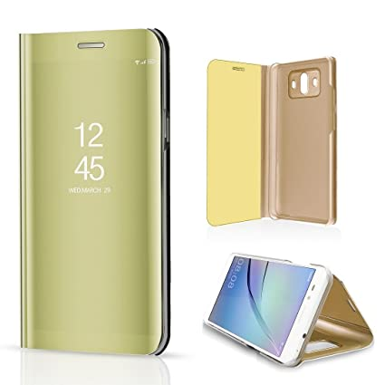 Amazon com: Samsung Galaxy S9 Mirror PU Leather Case,KooJoee
