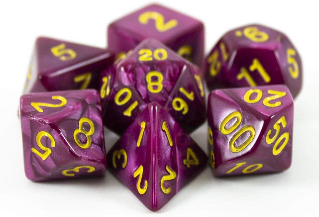 Paladin Roleplay - Juego de dados de rol (poliedro), color morado: Amazon.es: Juguetes y juegos