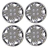 bmw 325 wheel cover - TuningPros WSC3-509C14 4pcs Set Snap-On Type (Pop-On) 14-Inches Chrome Finish Hubcaps Wheel Cover