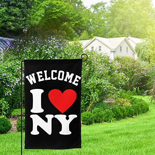 I Love NY New York Home Decorative Vertical Double Sided Garden Flag Country House Banner Flag 12.5