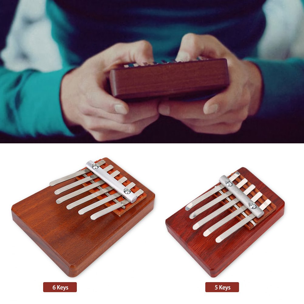 Traditional Finger Thumb Piano Size Beginners for Children Musical Instrument Accompaniment Training Tool (6 Keys)