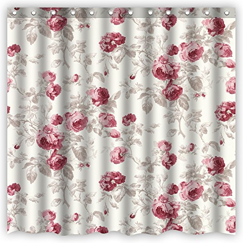 Atwtow Vintage Gorgeous Nobility Red Rose Flowers Pattern...