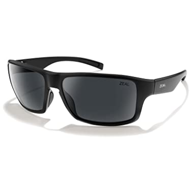 6d8f97e5e0 Zeal Optics Unisex Incline Matte Black W Polarized Dark Grey Lens One Size