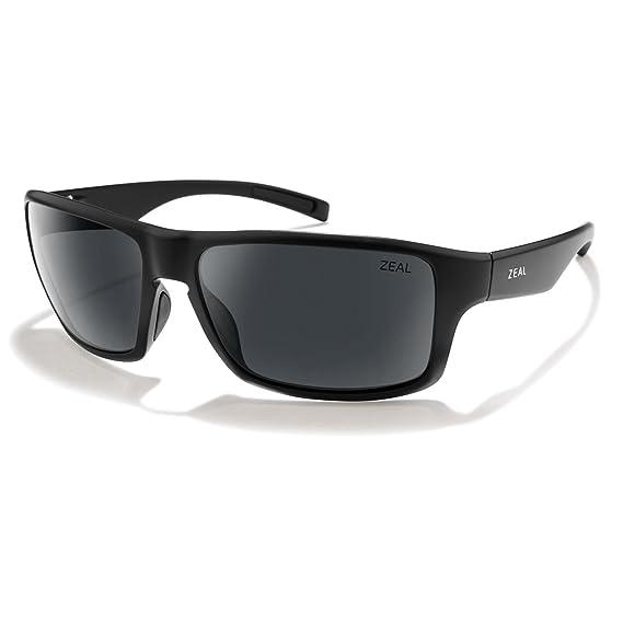 bbcfa892853 Zeal Optics Unisex Incline Matte Black W Polarized Dark Grey Lens Sunglasses   Amazon.co.uk  Clothing
