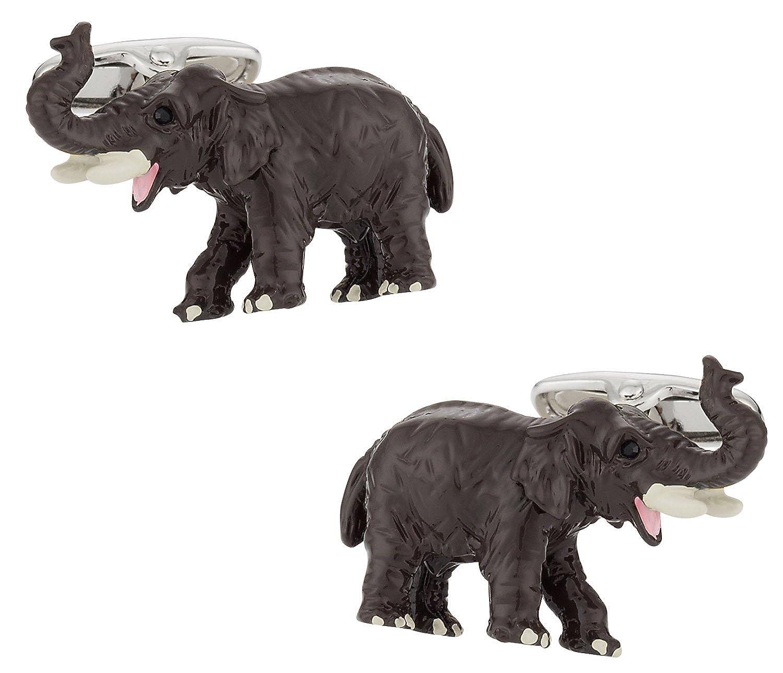 Cuff-Daddy African Elephant Cufflinks with Presentation Box