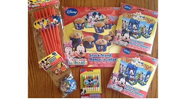 Amazon.com: Disney Jr. Micky Mouse Clubhouse Ultimate Party Supply Pack - Featuring Micky Mouse, Minnie Mouse, Daisy Duck, Donald Duck & Goofy!!! by Saless ...