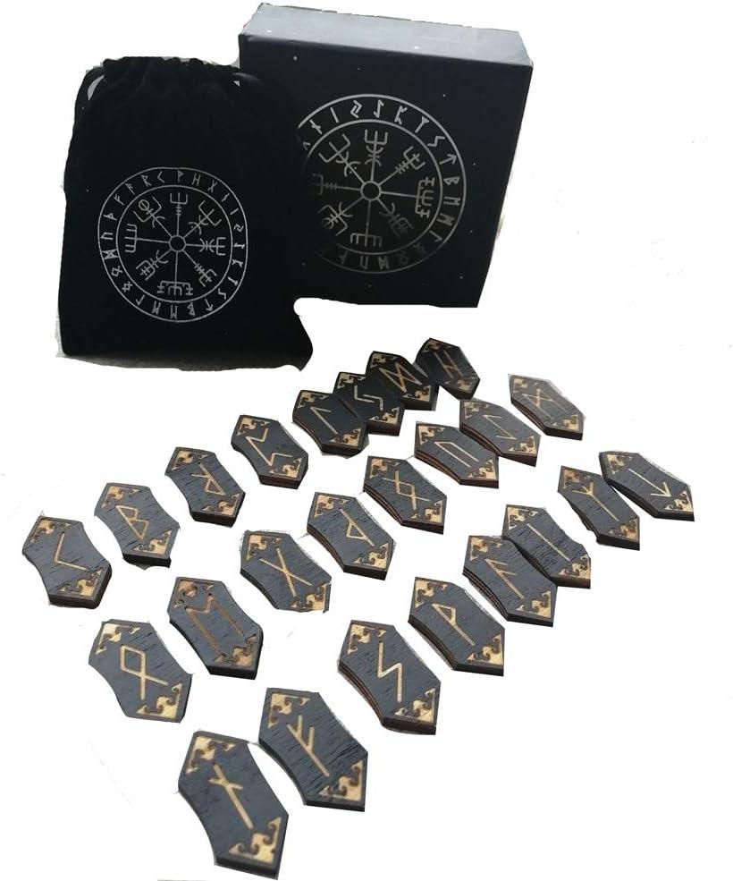 HLONGG Runas Piedras Conjunto Xilografía Runa Conjunto, Tumbled de Piedras Preciosas talladas con Las Palabras Runa de Adivinación Crystal Reiki,1 Set