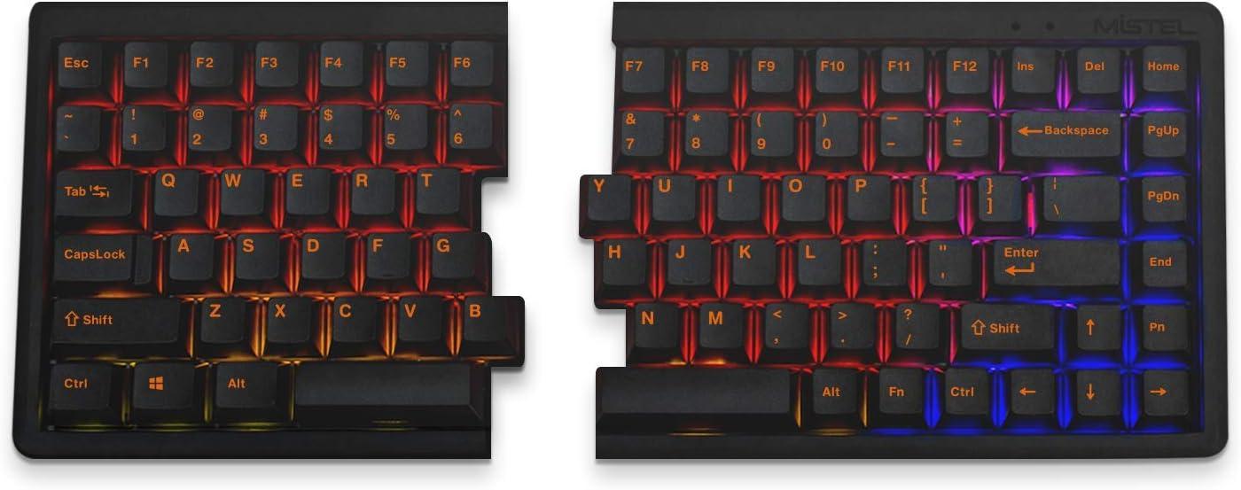 Mistel Barocco MD770 RGB 75% Split Mechanical Keyboard