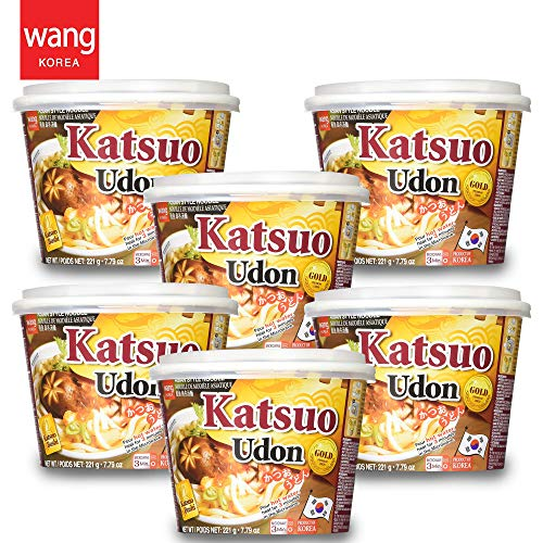 Japanese Style Cup Noodle Udon Fresh [Healthy, Convenient] Easy Microwaveable Cook Bowl in 3 Minutes / 7.79 oz per Meal (Pack of 6) - Dried Bonito Tuna (Katsuo) Flavor …