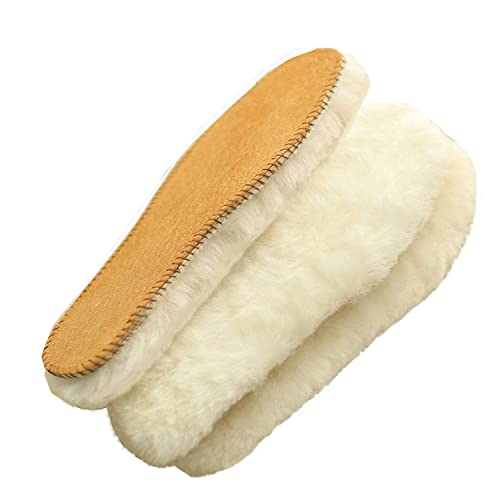 34c8570e28a Genius Australian Sheepskin Insole, Extra Thick and Warm Wool Insole, Women  Men Replacement Insole