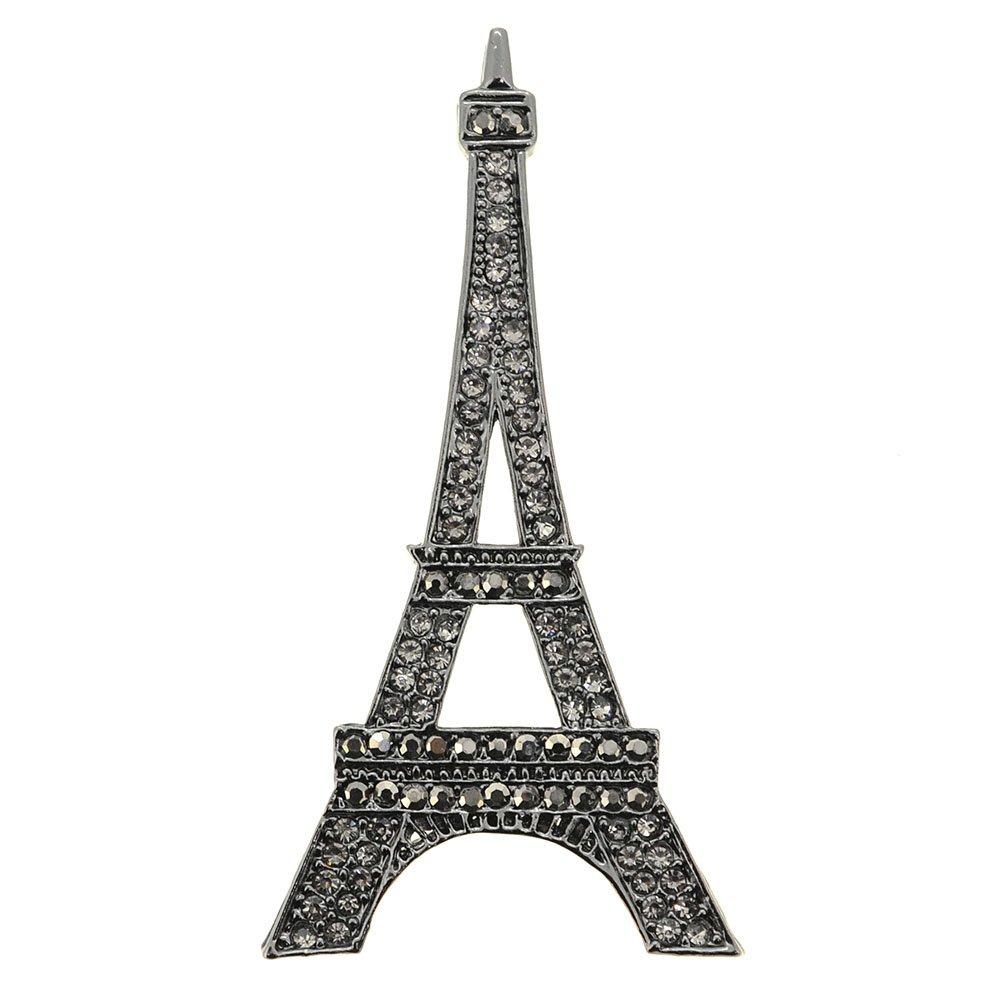 Fantasyard Paris Eiffel Tower Crystal Brooch