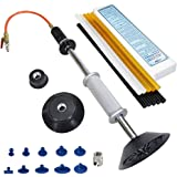 FIRSTINFO Pneumatic Auto Body Dent Puller/Air Suction Vacuum Slide Hammer Paintless Dent Repair Remover with 10 pcs Glue Tabs