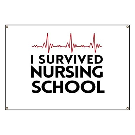 b1e301ebb Amazon.com: CafePress I Survived Nursing School Vinyl Banner, 44