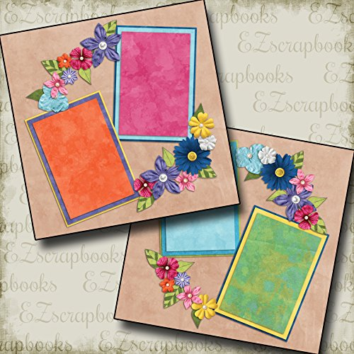 FLOWER GIRL - Premade Scrapbook Pages - EZ Layout 2104 ()