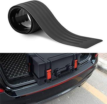 Heckstoßstange Gummi Stoßstangenschutz Hinten Universal Black Rubber Kratzfeste Kofferraumtürschutzvorrichtungen Zubehör Zierabdeckung Für Suv Autos Auto